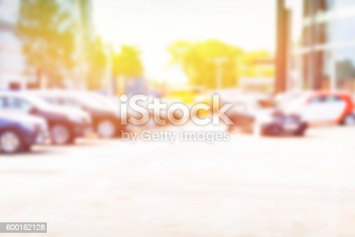 683425144 istock photo Abstract background of blurred  cars 600162128