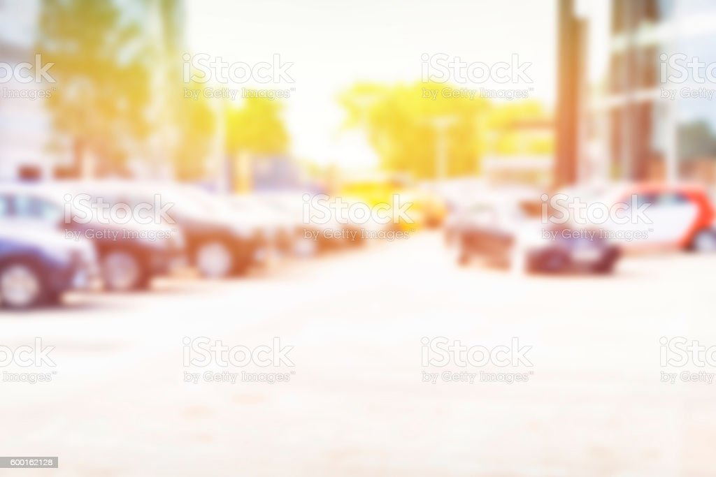 Abstract background of blurred  cars stock photo