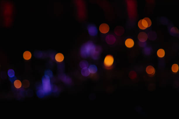 abstract background of blurred lights - film festival stock photos and pictures