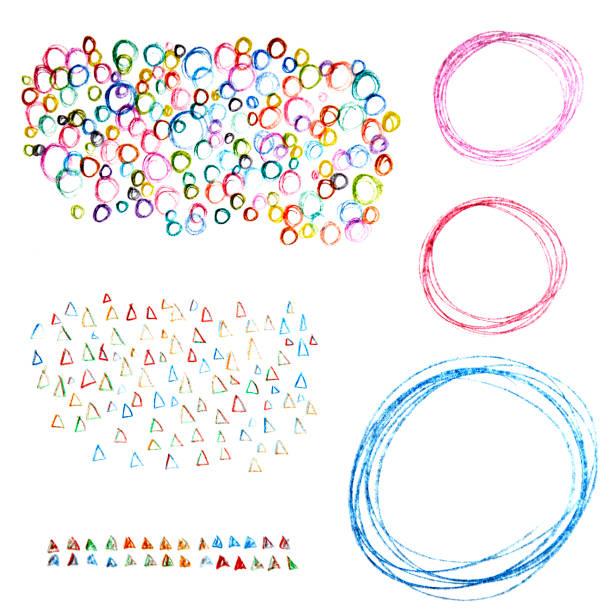 abrischer hintergrund von farbstiften zeichnungen - scribble stock-fotos und bilder
