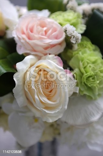 istock Abstract background of colorful flower . 1142120538