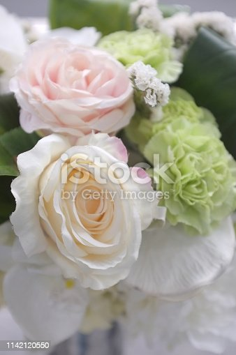 istock Abstract background of colorful flower . 1142120550