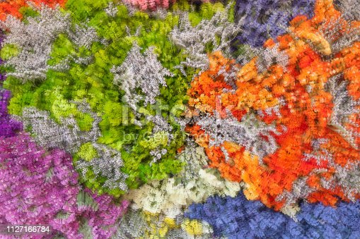 istock abstract background of colorful flowers in impressionist painting style 1127166784