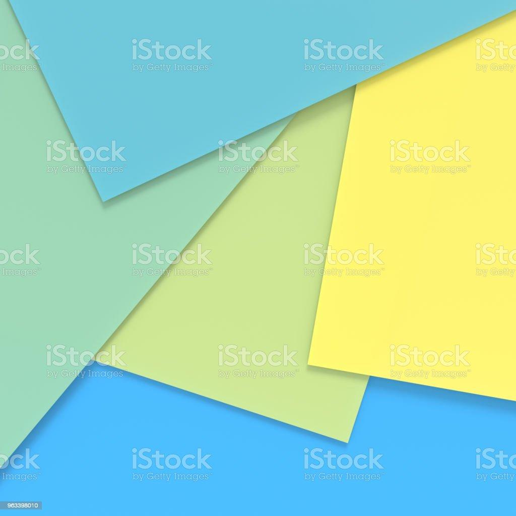 Abstrakcyjne tło kolorowego papieru. renderowania 3D. - Zbiór zdjęć royalty-free (Abstrakcja)