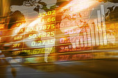 Abstract background of currency exchange