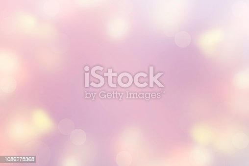 Abstract Background of Defocused Spot Light Color Pastel pink, purple, yellow. Merry Christmas and happy New year. Valentine's birthday