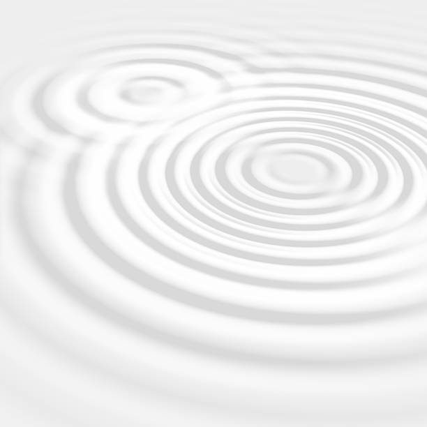 fond abstrait gris ondulations de l'eau - cercle concentrique photos et images de collection