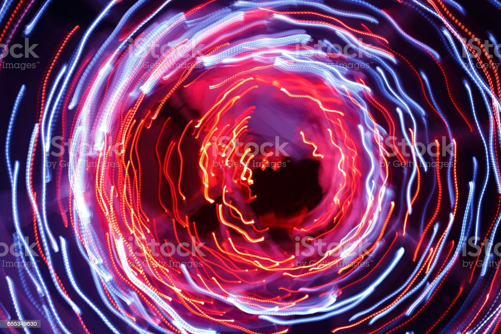 Abstract background of light trails stock photo