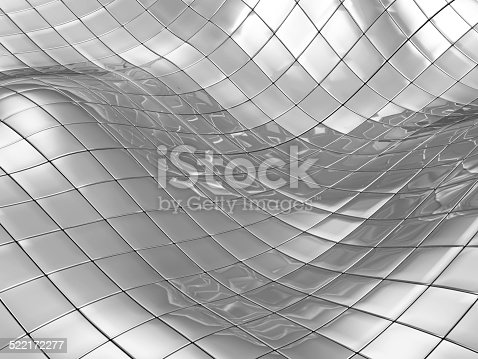 istock Abstract Background of Metal Cubes 522172277
