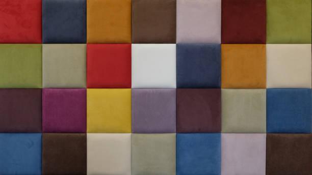 fondo abstracto de textura de tela de cheque multicolor. paleta de color - foto de stock