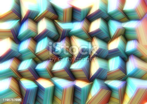 486534722istockphoto Abstract background of multi-colored cubes 1195757696