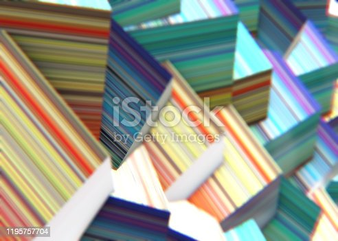 486534722istockphoto Abstract background of multi-colored cubes 1195757704