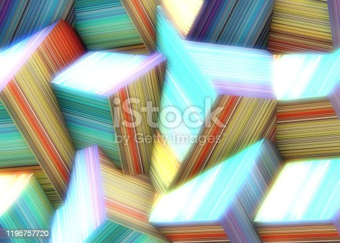 486534722istockphoto Abstract background of multi-colored cubes 1195757720