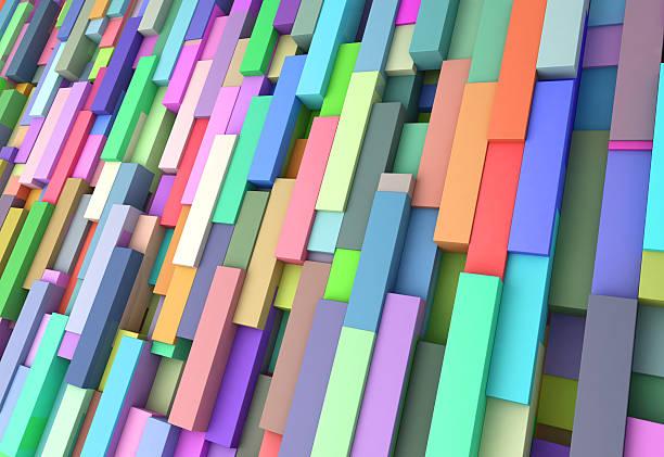 Resumen fondo de cubos de color - foto de stock