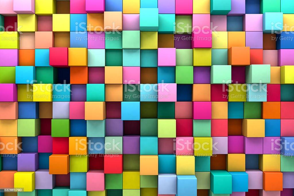 Abstrakt Hintergrund mit bunten Würfel Lizenzfreies stock-foto