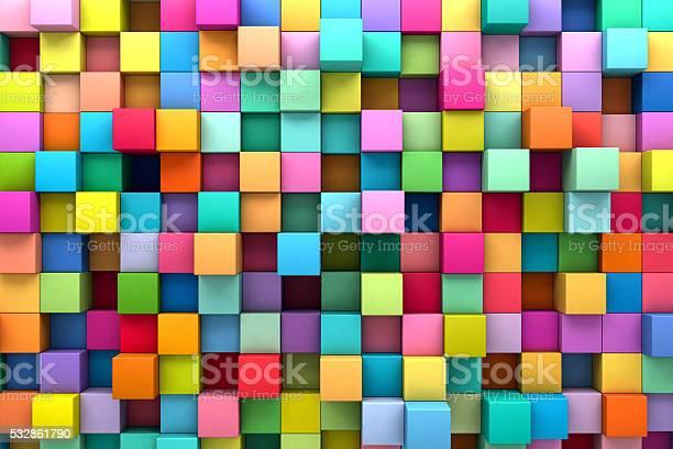 Abstrakt Hintergrund Mit Bunten Würfel Stockfoto und mehr Bilder von Abstrakt