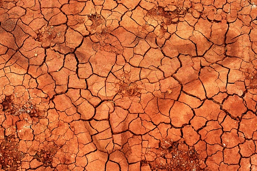 Abstract background of natural crack texture on dry soil background
