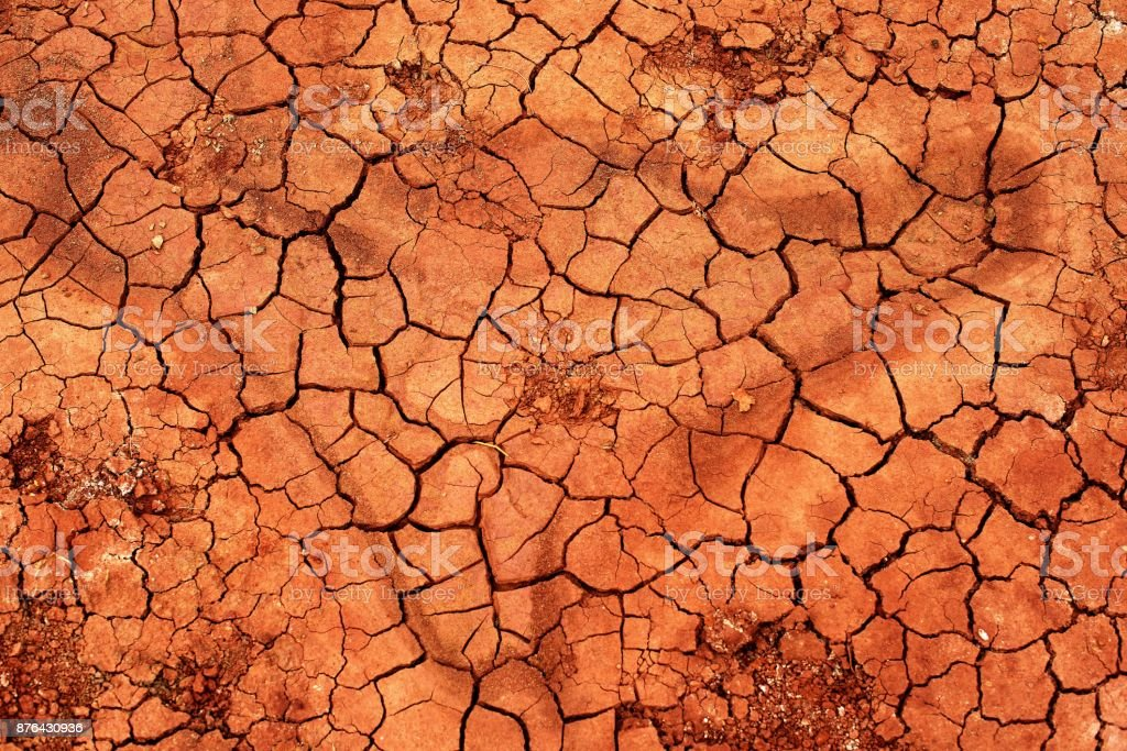 Abstract background of natural crack texture on dry soil background stock photo