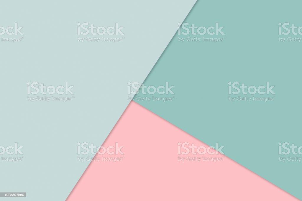 Abstract Background von überlappenden Papier im trendigen Pastell-Farben: grün und Rosa - Material-Design, Minimalismus, Modern, einfach - Lizenzfrei Abstrakt Stock-Foto