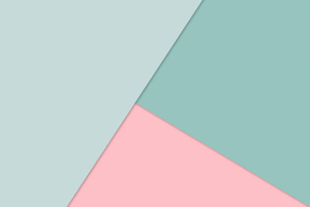 abstrakcyjne tło nakładającego się papieru w modnych pastelowych kolorach: zielonym i różowym - projektowanie materiałów, minimalizm, nowoczesny, prosty - pastelowy kolor zdjęcia i obrazy z banku zdjęć