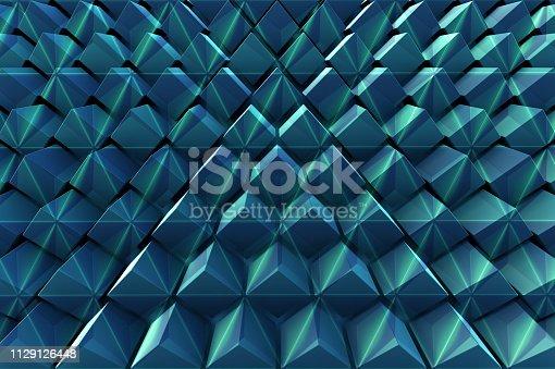 941338268istockphoto Abstract background of polygonal shape 1129126448