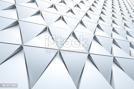 istock Abstract background of polygonal shape 941677650