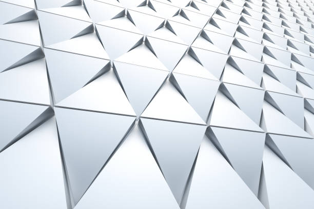 abstract background of polygonal shape - architecture stock photos and pictures