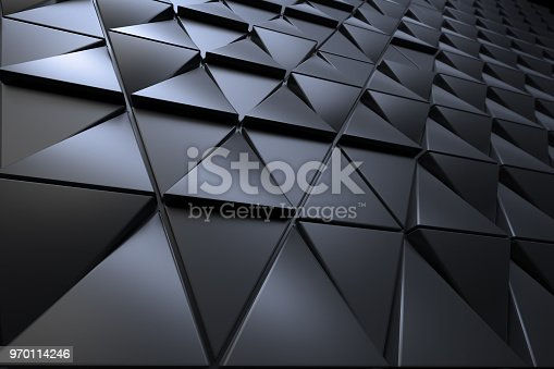 istock Abstract background of polygonal shape 970114246