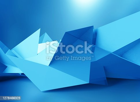 Abstract background of polygons on background.