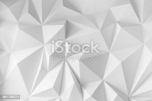 istock Abstract background of polygons on white background 691766074