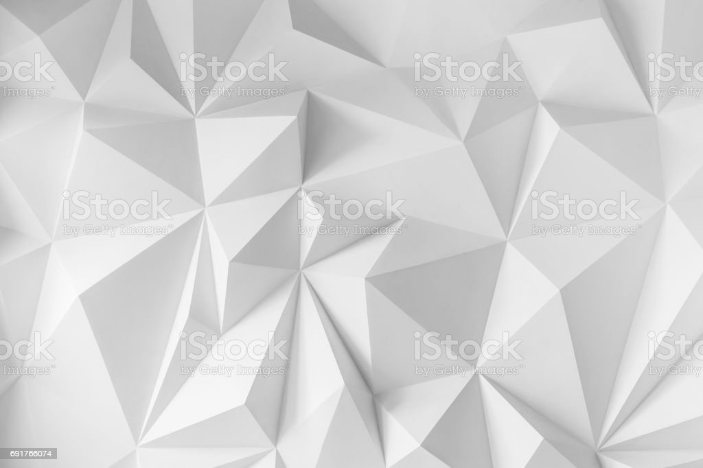 Abstract background of polygons on white background stock photo