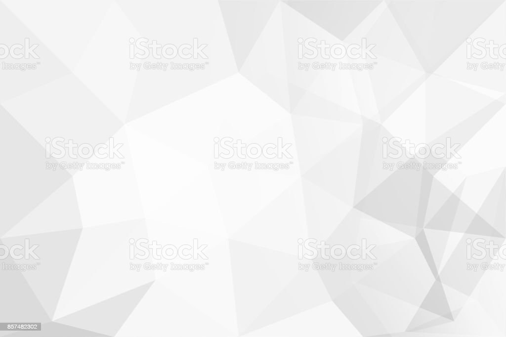 Abstract background of polygons on white background. stock photo