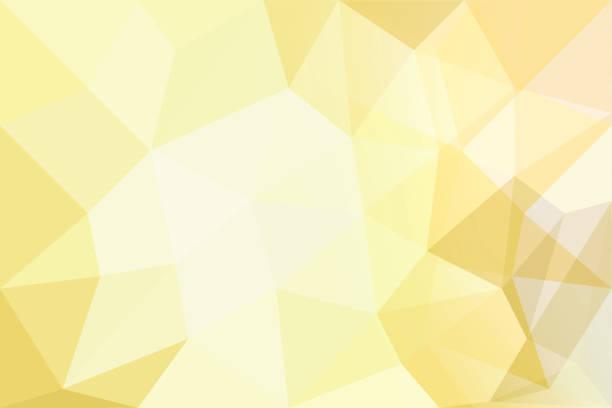Antecedentes de polígonos sobre fondo amarillo. - foto de stock