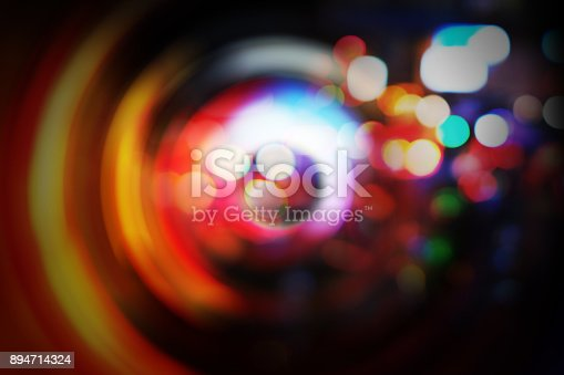 istock Abstract background of radial blur with bokeh 894714324