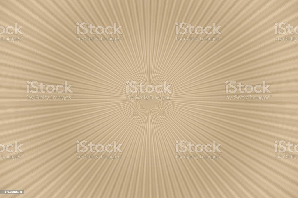 Abstract background of radial pattern - beige. royalty-free stock photo