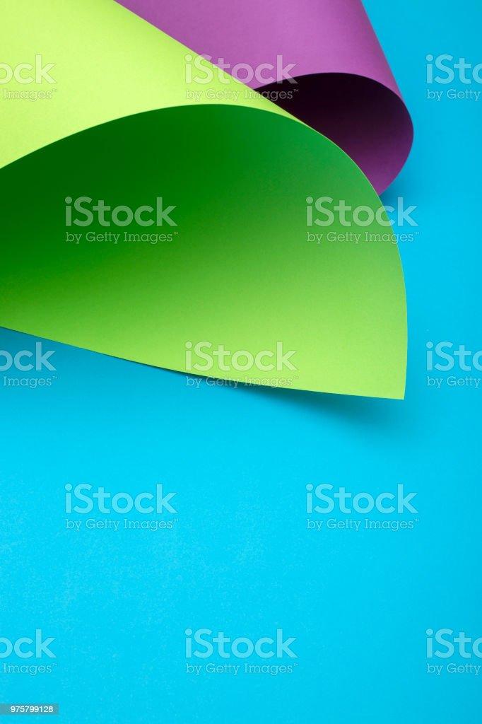 Zusammenfassung Hintergrund von Platten aus farbigem Papier - Lizenzfrei Abstrakt Stock-Foto
