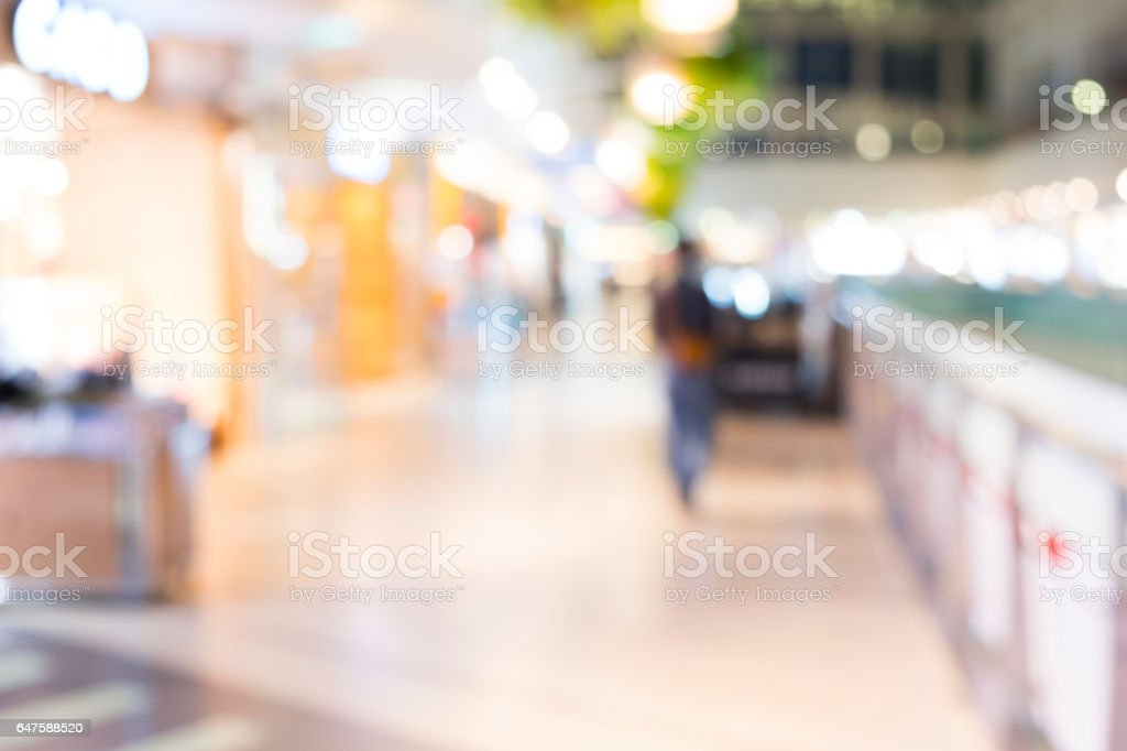 Abstract background of shopping mall, shallow depth of focus. stock photo