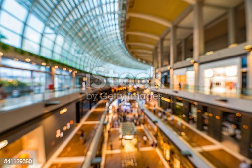 istock Abstract background of shopping mall, shallow depth of focus 841129360