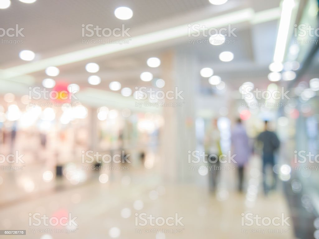 Abstract background of shopping mall, shallow DOF stock photo