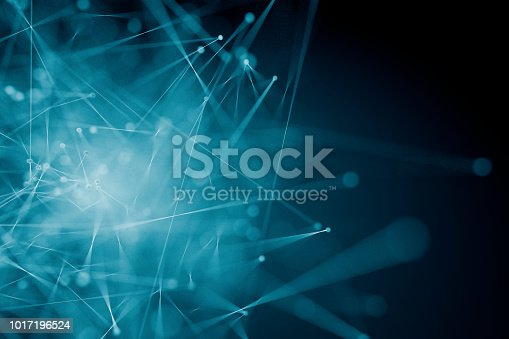 istock Abstract background of spheres and lines 1017196524