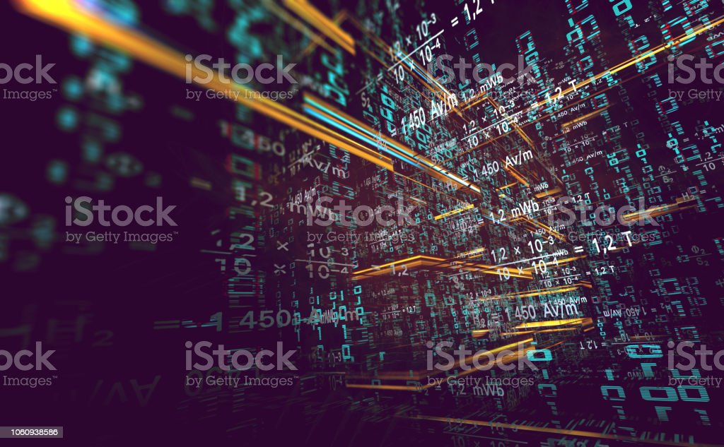 "Abstract background of technology, science and cloud computer.3d illustration""n Wallpaper of binary code concept pattern and big data structure.Net and source code. Abstract Stock Photo"