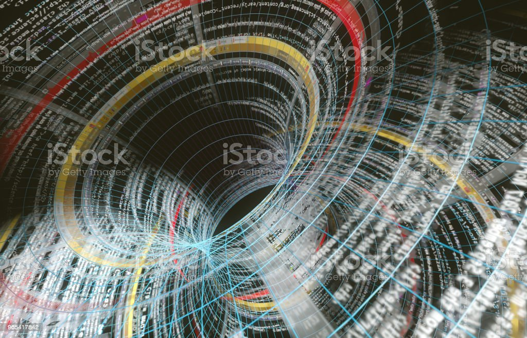 Abstract background of technology, science and cloud computer.3d illustration zbiór zdjęć royalty-free