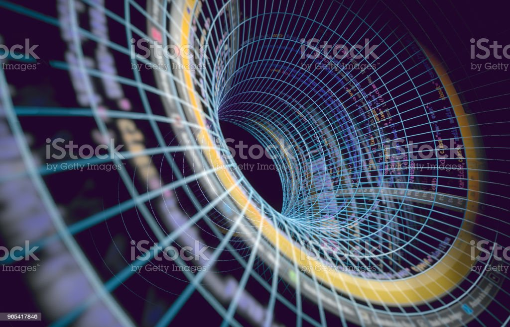 Abstract background of technology, science and cloud computer.3d illustration royalty-free stock photo