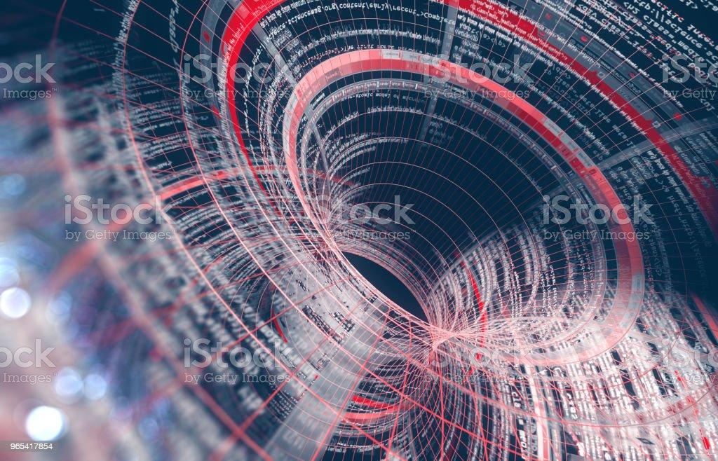 Résumé historique de l'illustration computer.3d nuage, sciences et technologie - Photo de Abstrait libre de droits