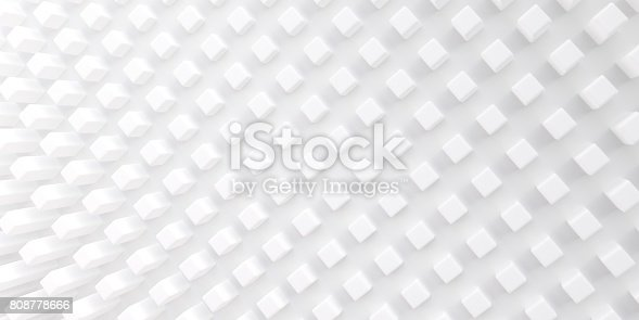 istock Abstract background of three-dimensional geometrical shapes. White texture with soft shadows. 808778666