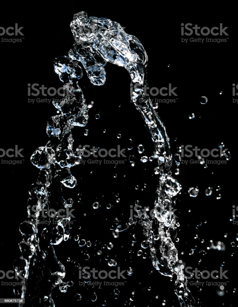 abstract background of water on black royalty-free stock photo