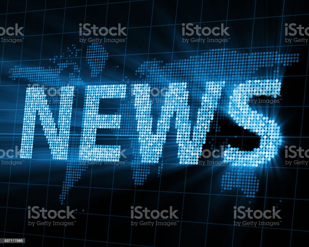 Abstract Background of World News with Glowing Rays stock photo