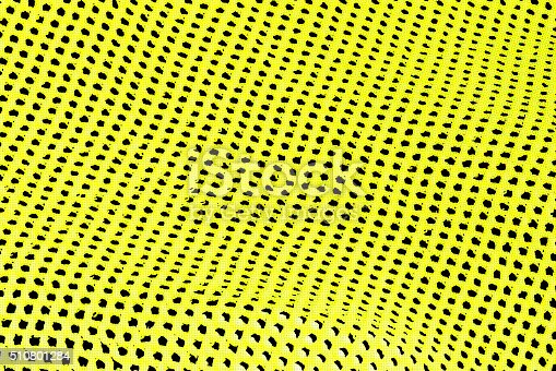 istock Abstract background of yellow and black holes in row 510801284