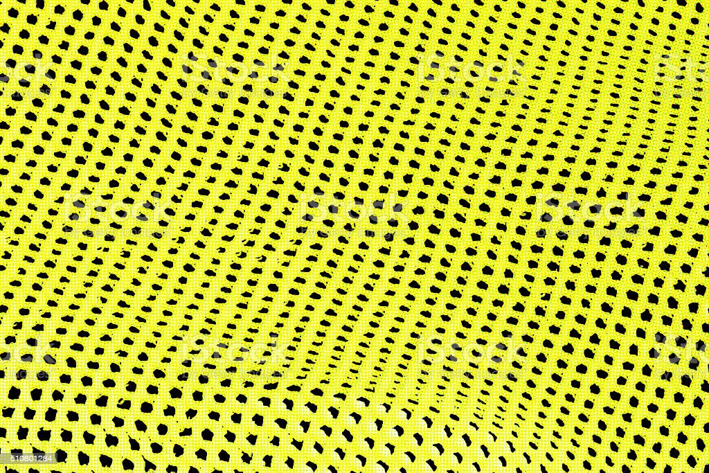 Abstract background of yellow and black holes in row stock photo