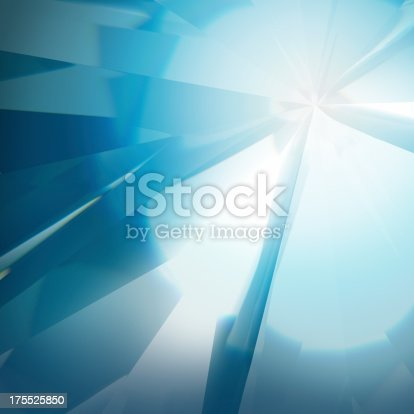 Abstract diamond refraction background.
